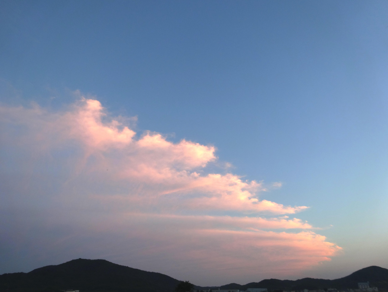 不思議な形の雲
