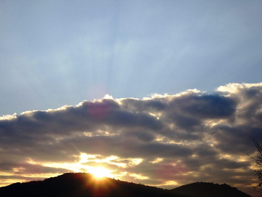 冬至の朝 日の出
