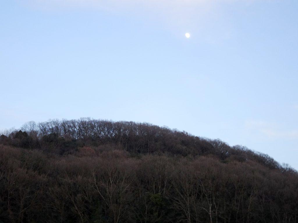 夕方 東の空