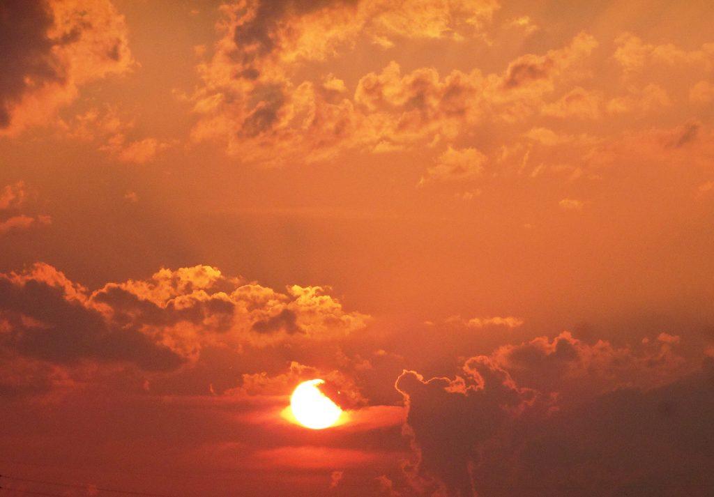 夏至の夕陽