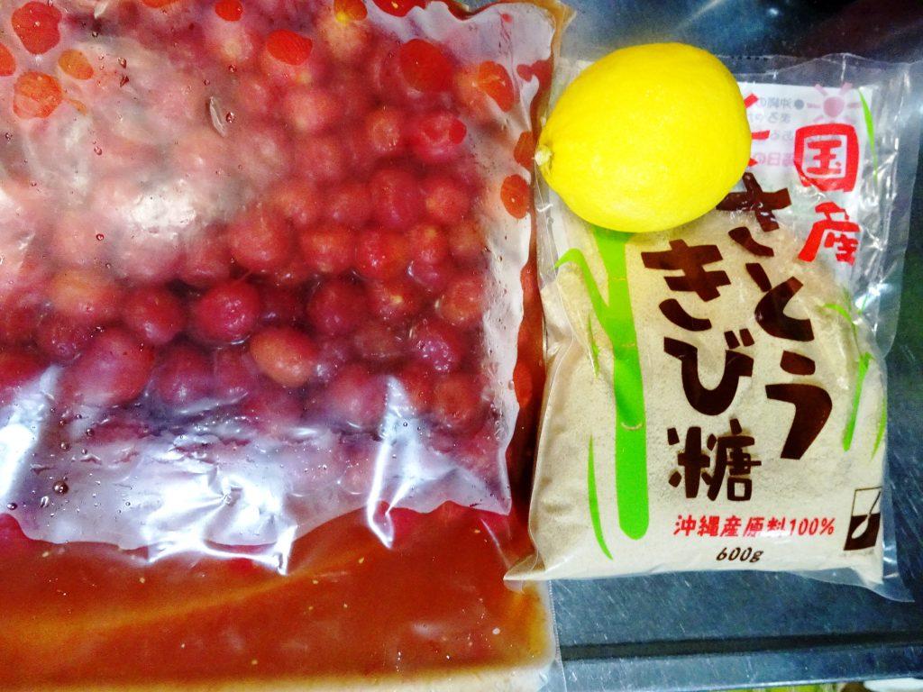 プチトマト+砂糖+レモン