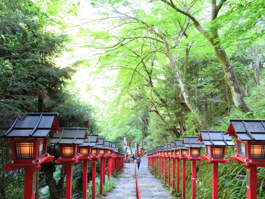 貴船神社 夕景