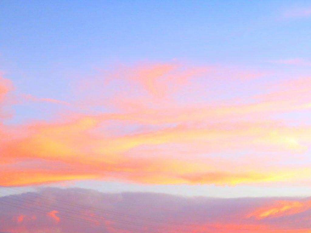 8月の夕焼け雲